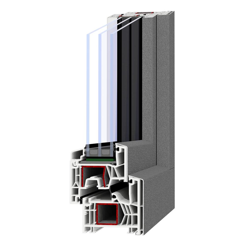 Kunststoff-Alu-Fenster